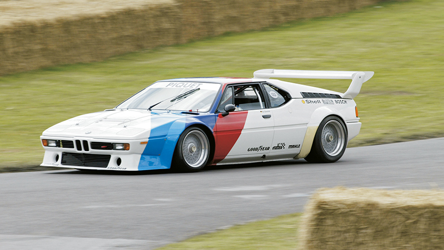 The racing version of the BMW M1.