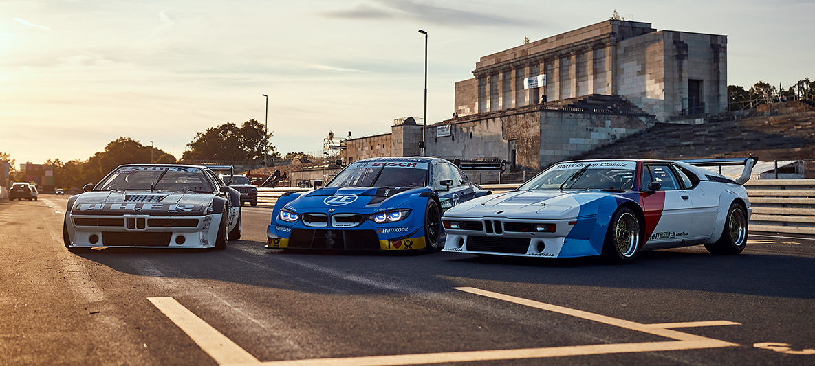 BMW M1 Procars and the ZF BMW M4 DTM.