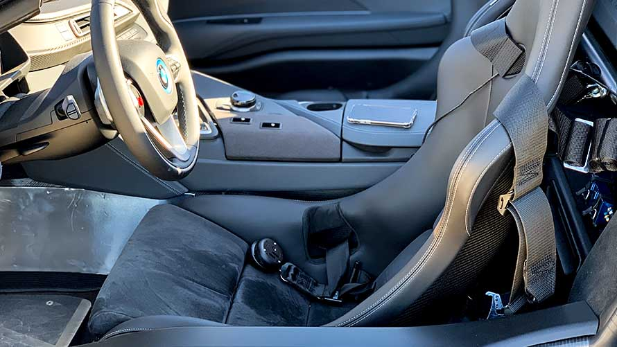 Sitz des BMW i8 Roadster Safety Car