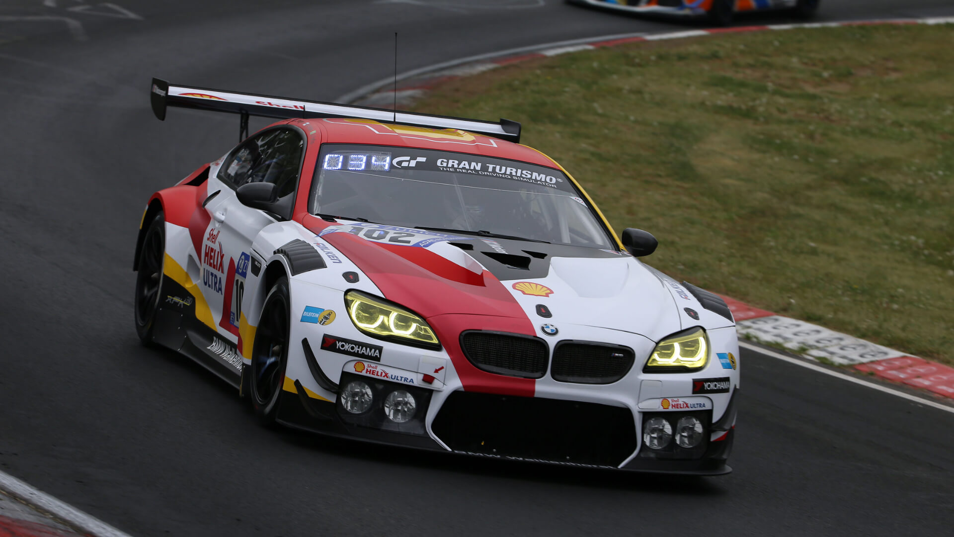 BMW M6 GT3 on the race track
