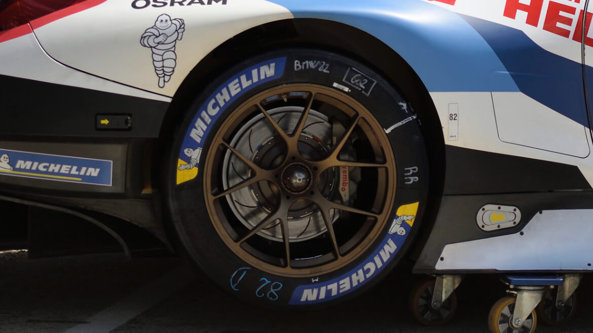 Wheels of the BMW M8 GTE