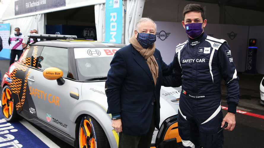 MINI Electric Pacesetter inspired by JCW, FIA Formula E Safety Car, Jean Todt, Bruno Correia